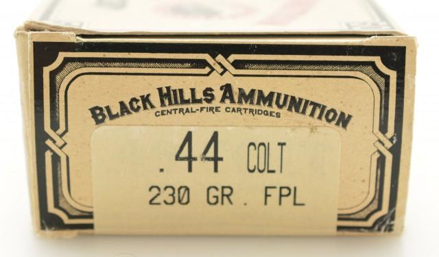 Black Hills 44 Colt Ammunition 230 GR FPL Full Box 50 Rds