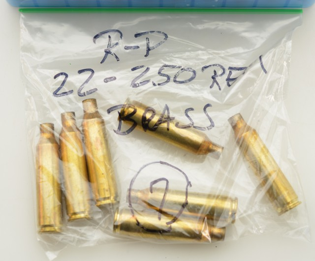 22-250 Rem Brass for Reloading Winchester Remington 27 Pieces