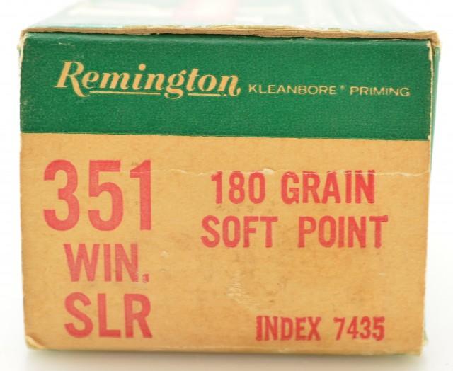Remington 351 Win SLR Ammo Full Box 180 Grain Soft-Point 50 Rds.