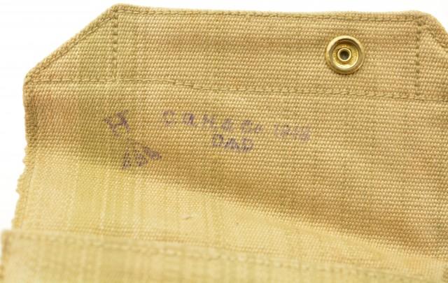 Australian WWII Khaki Web Canvas 38 Cal Revolver Holster 1942 Broad Ar