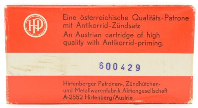 Austrian Hirtenberg 38 S&W Ammo Full Box 50 Rounds RN Lead