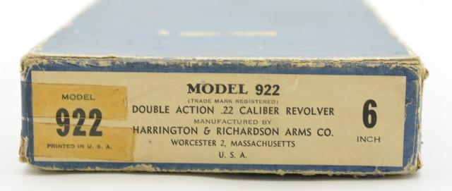 Excellent Harrington & Richardson Model 922 Revolver w/ Original Box