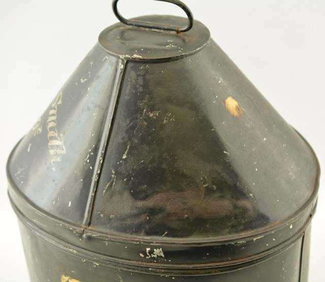 British Metal Hat Box Belonging to Lt. Col. H.L. Smith (DSO)