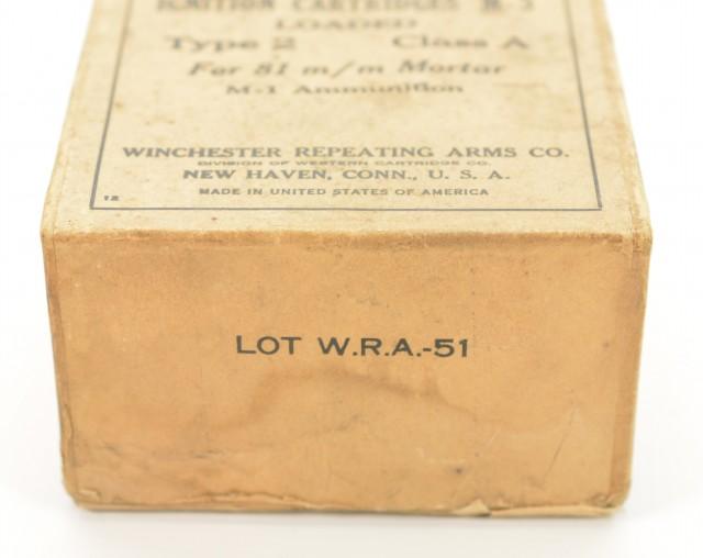 Winchester 81 mm Mortar Ammunition empty box