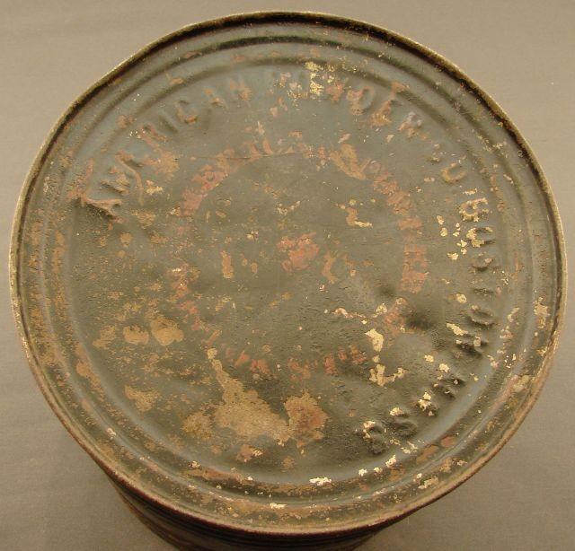 25 Pound metal powder can