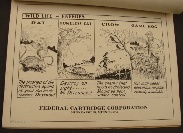 Federal Cartridge Corp Conservation Illustrations from 1930s