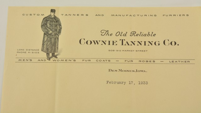 Documents from Cownie Tanning Co.