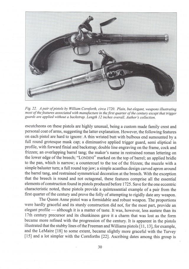 The Queen Anne Pistol, 1660 - 1780. John Burgoyne
