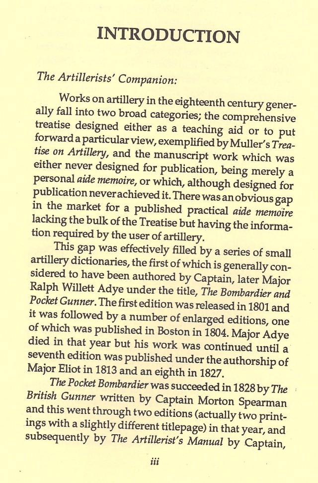 Artillerist's Companion Reprint of 1778 British Cannon Manual