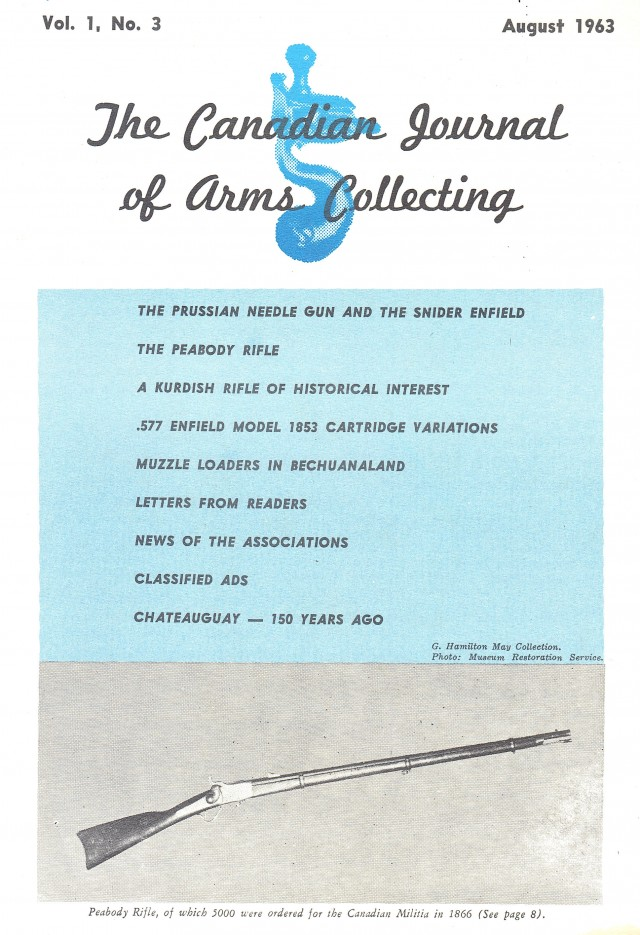Canadian Journal of Arms Collecting - Vol. 1 No. 3 (Aug 1963)