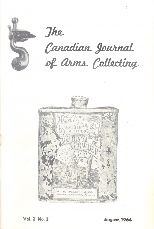 Canadian Journal of Arms Collecting - Vol. 2 No. 3 (Aug 1964)