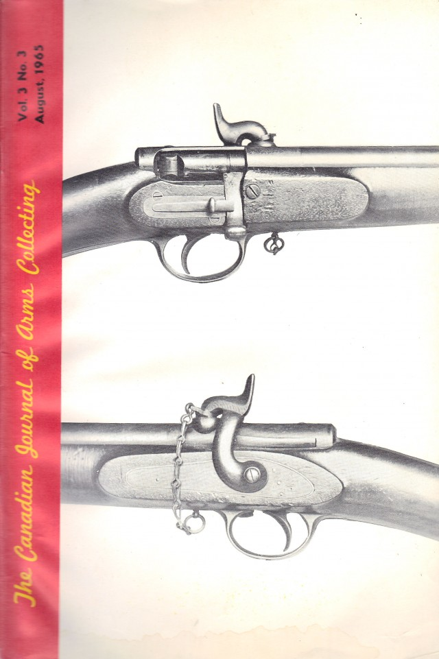 Canadian Journal of Arms Collecting - Vol. 3 No. 3 (Aug 1965)