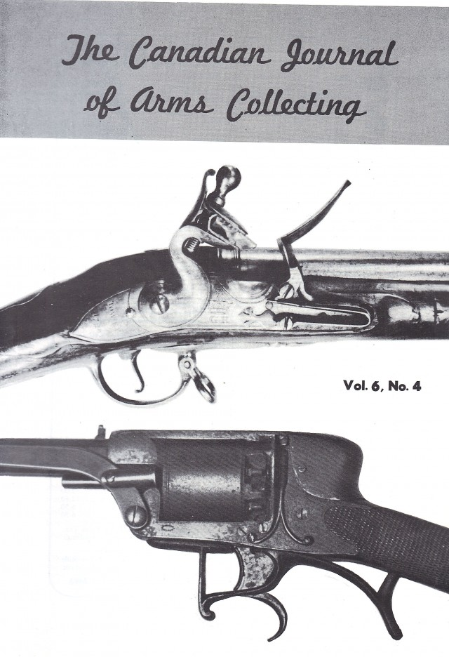 Canadian Journal of Arms Collecting - Vol. 6 No. 4 (Nov 1968)