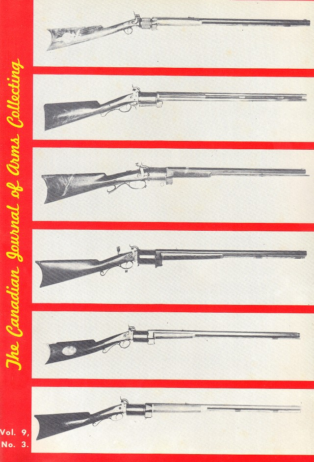 Canadian Journal of Arms Collecting - Vol. 9 No. 3 (Aug 1971)