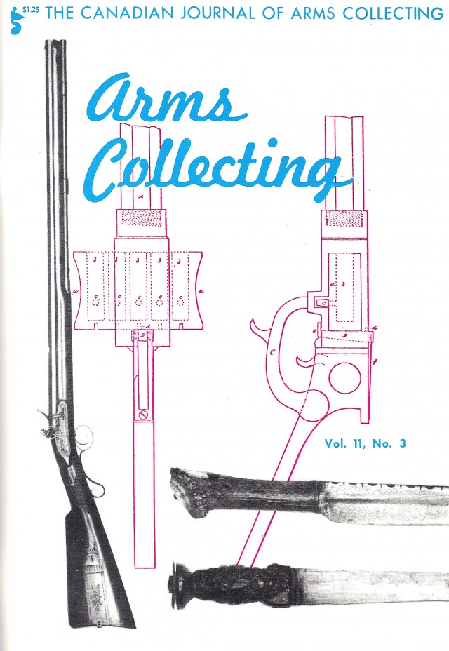 Canadian Journal of Arms Collecting - Vol. 11 No. 3 (Aug 1973)