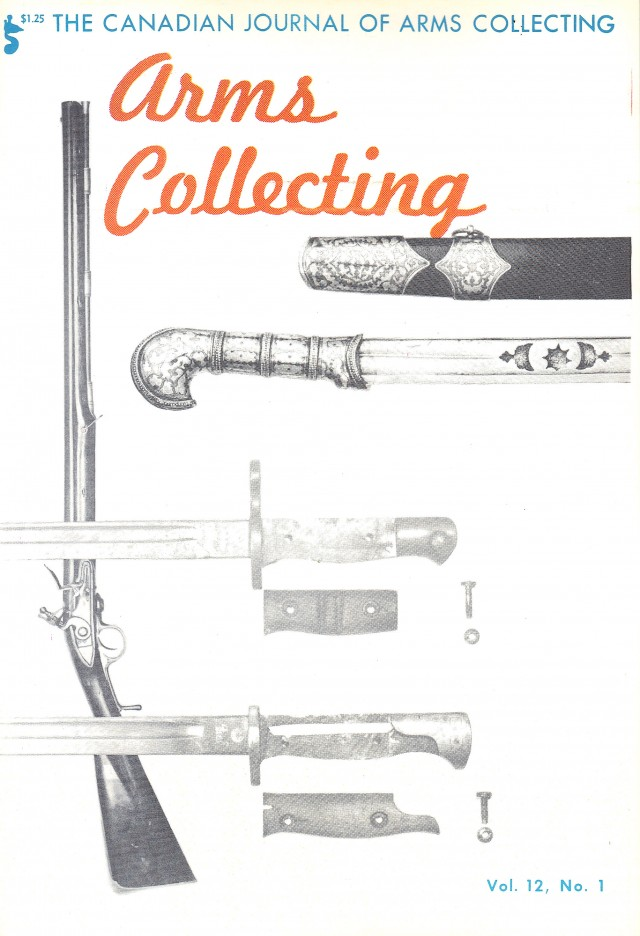 Canadian Journal of Arms Collecting - Vol. 12 No. 1 (Feb 1974)