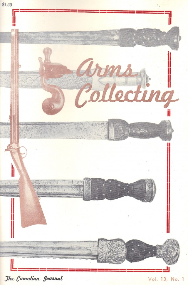 Canadian Journal of Arms Collecting - Vol. 13 No. 1 (Feb 1975)