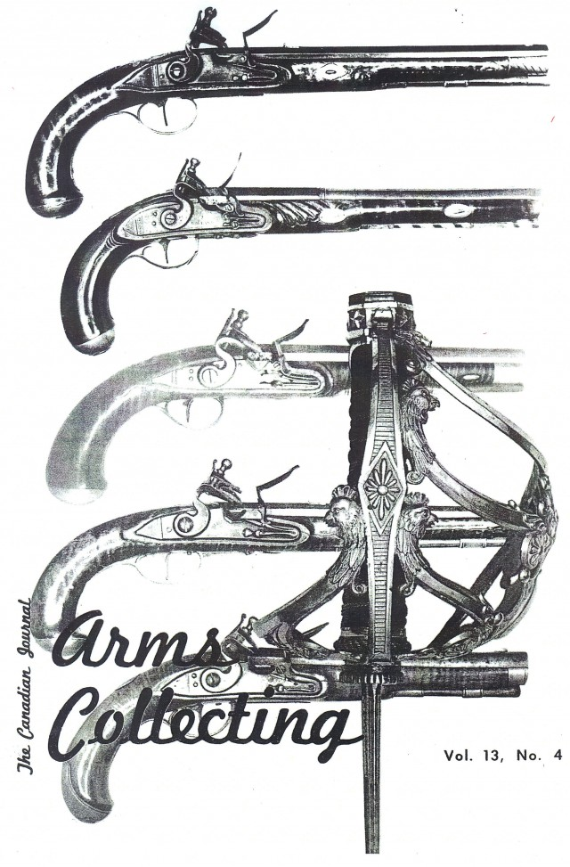 Canadian Journal of Arms Collecting - Vol. 13 No. 4 (Nov 1975)
