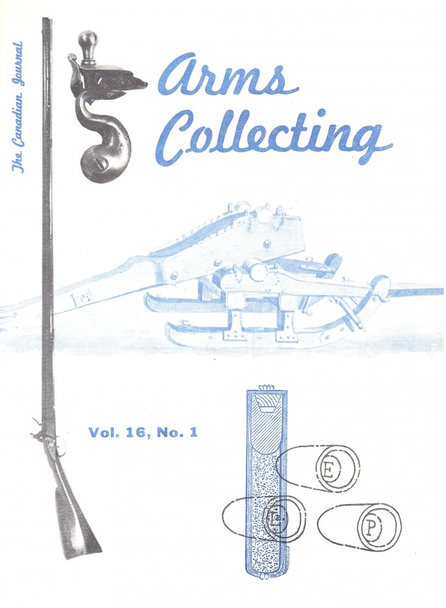 Canadian Journal of Arms Collecting - Vol. 16 No. 1 (Feb 1978)