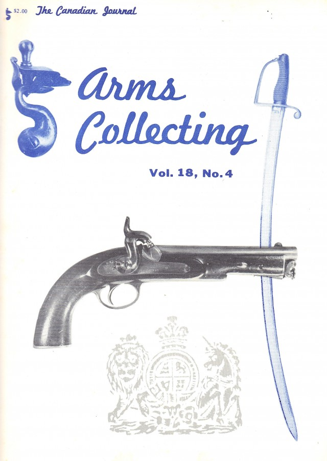 Canadian Journal of Arms Collecting - Vol. 18 No. 4 (Nov 1980)