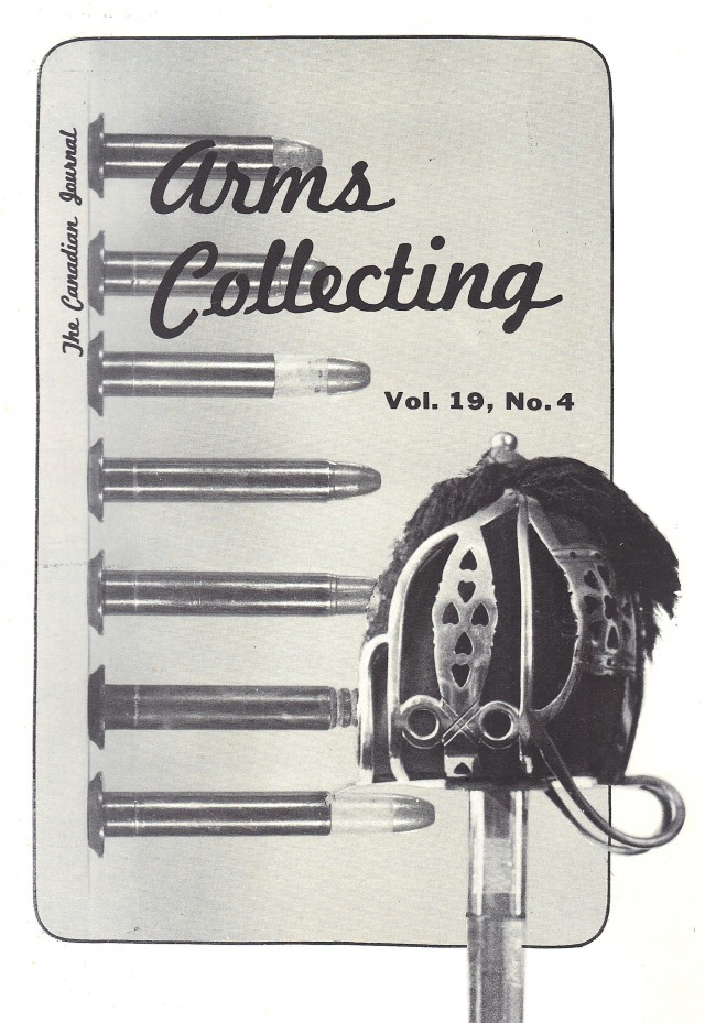 Canadian Journal of Arms Collecting - Vol. 19 No. 4 (Nov 1981)