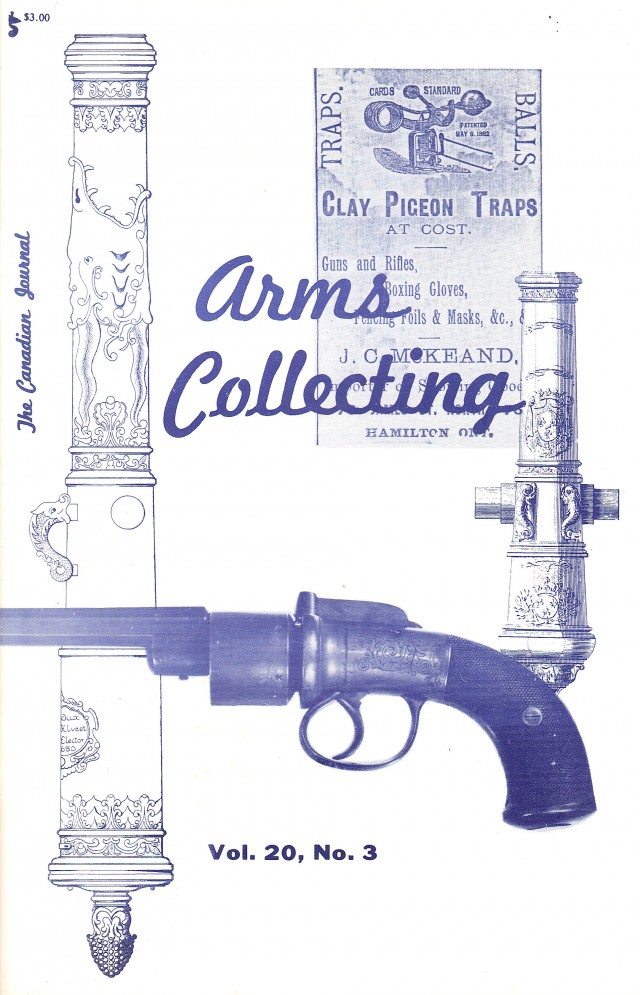 Canadian Journal of Arms Collecting - Vol. 20 No. 3 (Aug 1982)
