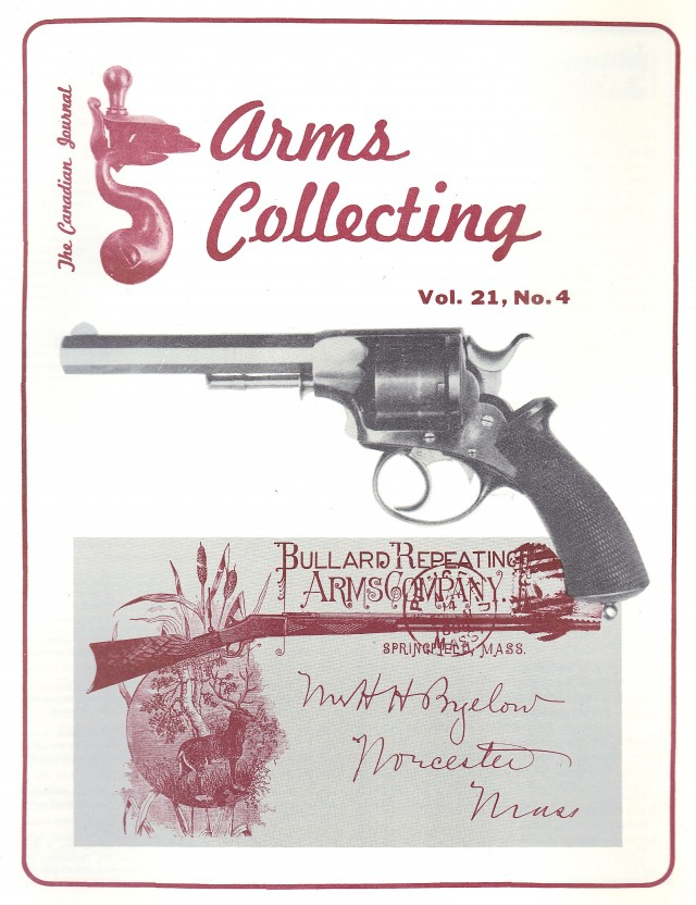 Canadian Journal of Arms Collecting - Vol. 21 No. 4 (Nov 1983)