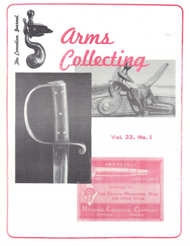 Canadian Journal of Arms Collecting - Vol. 22 No. 1 (Feb 1984)