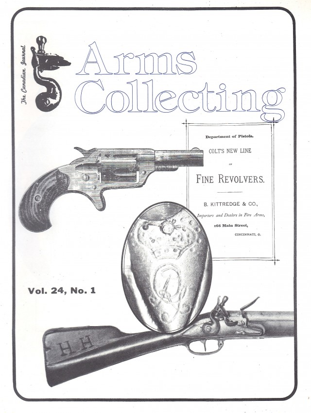 Canadian Journal of Arms Collecting - Vol. 24 No. 1 (Feb 1986)