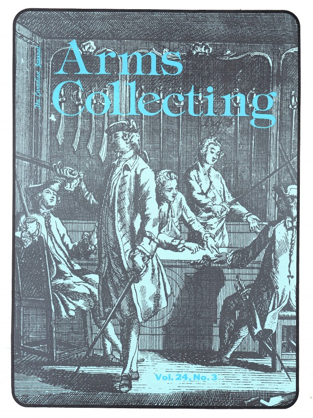 Canadian Journal of Arms Collecting - Vol. 24 No. 3 (Aug 1986)