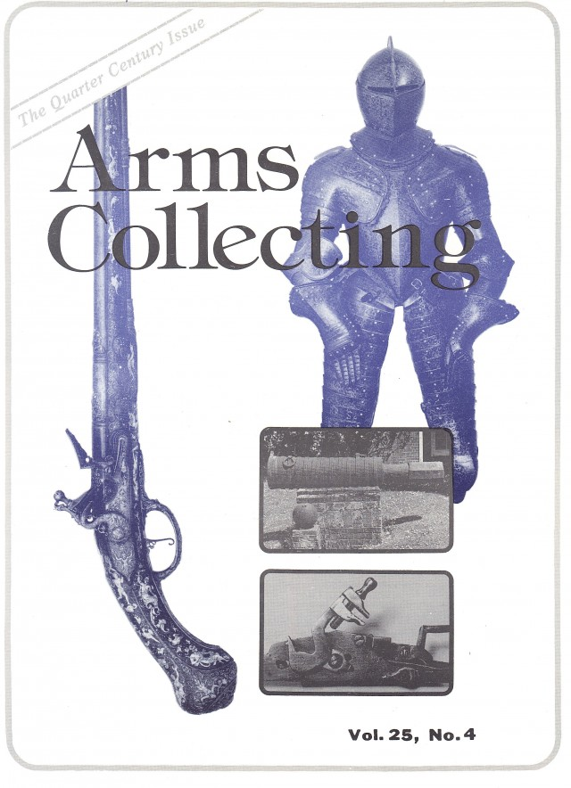 Canadian Journal of Arms Collecting - Vol. 25 No. 4 (Nov 1987)