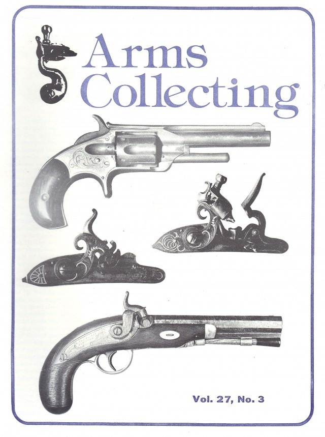 Canadian Journal of Arms Collecting - Vol. 27 No. 3 (Aug 1989)