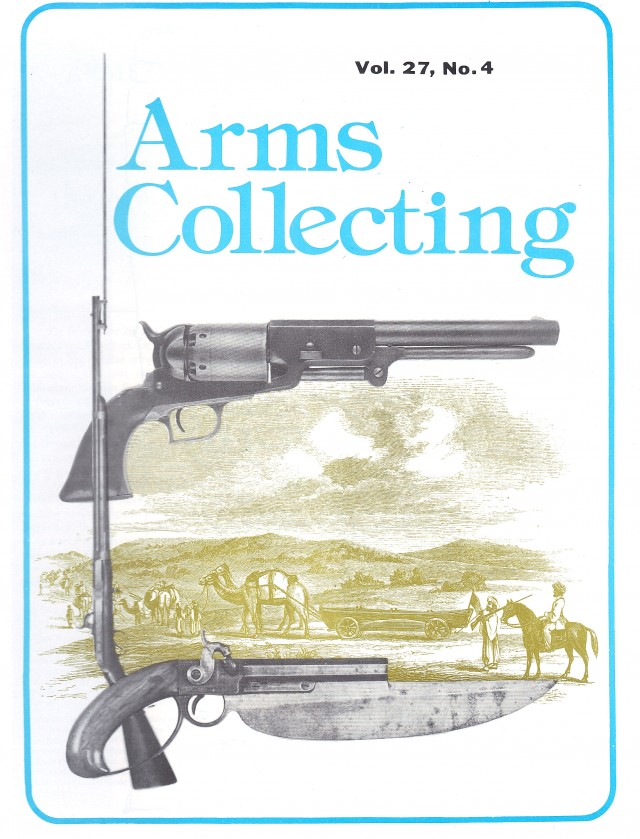 Canadian Journal of Arms Collecting - Vol. 27 No. 4 (Nov 1989)