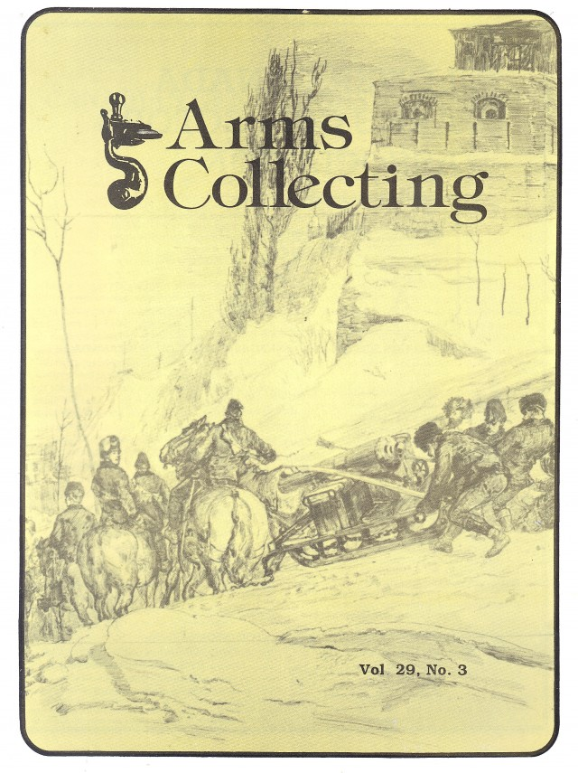 Canadian Journal of Arms Collecting - Vol. 29 No. 3 (Aug 1991)
