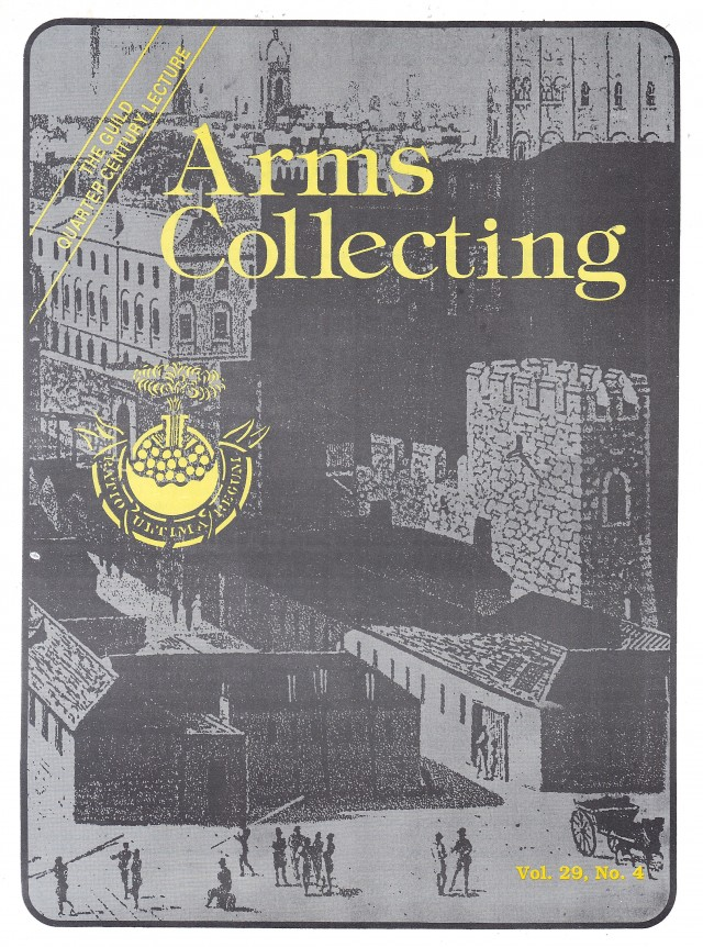 Canadian Journal of Arms Collecting - Vol. 29 No. 4 (Nov 1991)