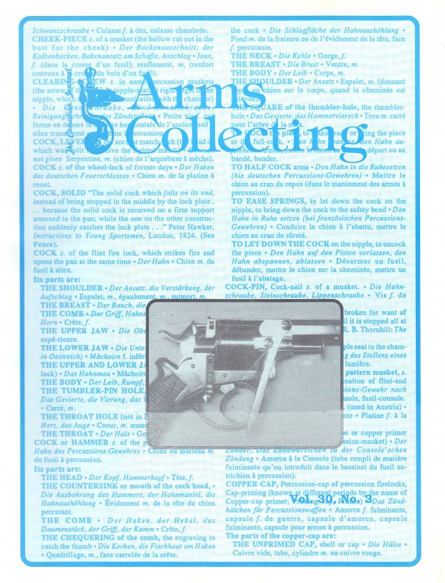 Canadian Journal of Arms Collecting - Vol. 30 No. 3 (Aug 1992)