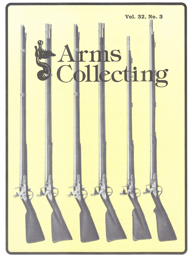 Canadian Journal of Arms Collecting - Vol. 32 No. 3 (Aug 1994)