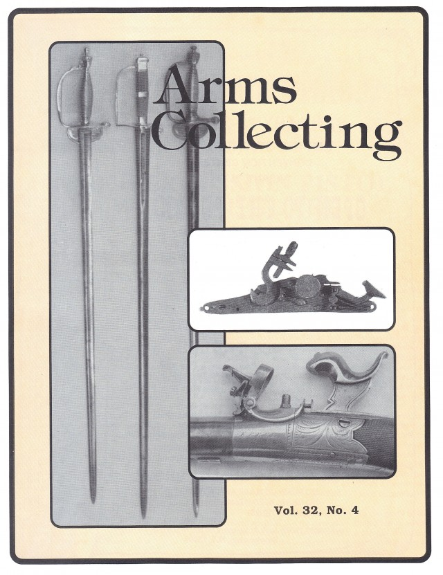 Canadian Journal of Arms Collecting - Vol. 32 No. 4 (Nov 1994)