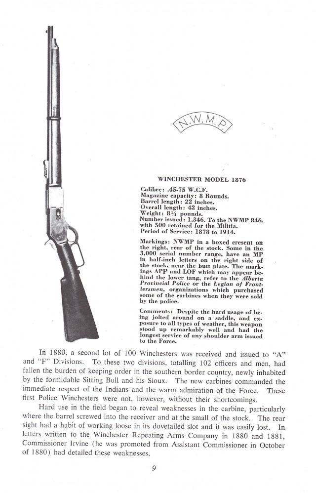 Small Arms of the Mounted Police - RCMP Weapons