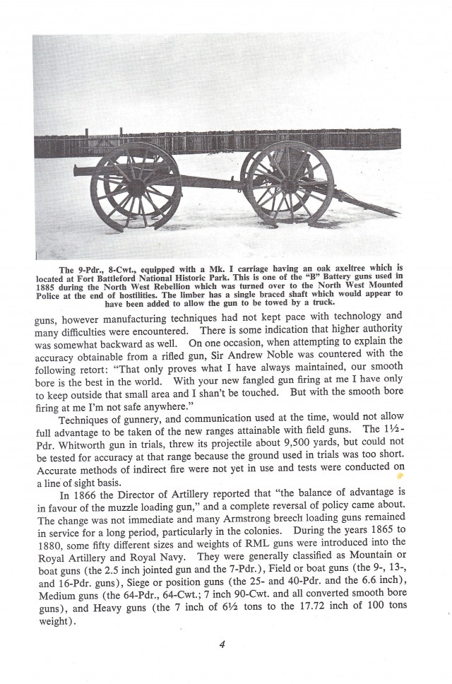 9 pounder Muzzle Loading Rifle 1871 Cannon Carriages