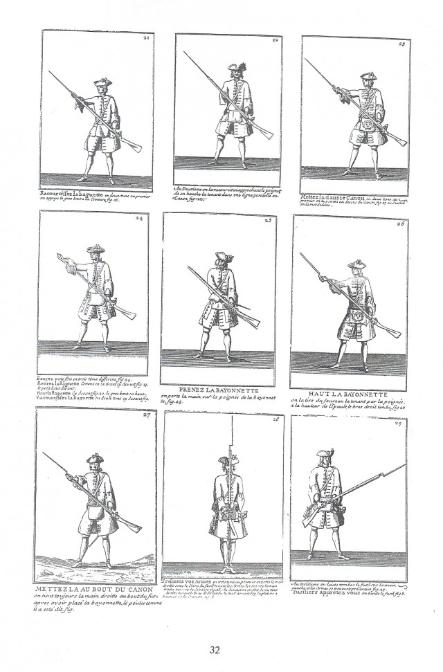 French Arms Drill of the 18th Century Text and Illustrations
