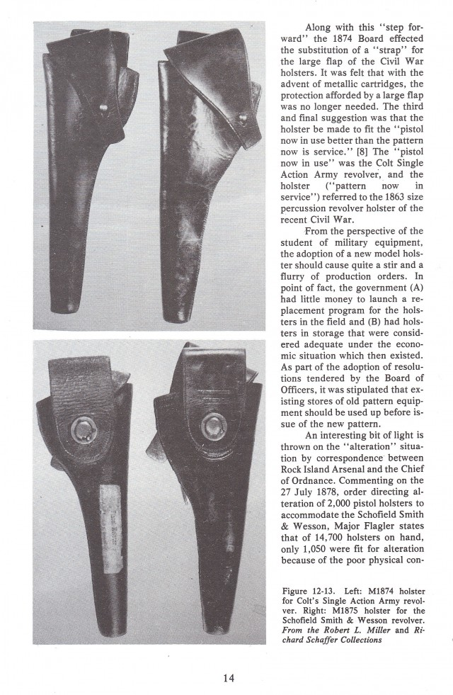 U.S. Single Action Handgun Holsters 1870-1910 Colt Single Action