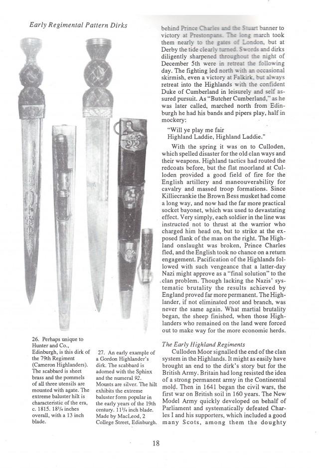 The Scottish Dirk - Scottish Knives Identification