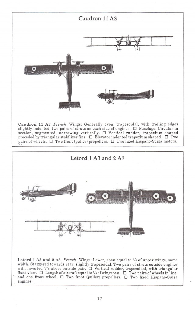 Allied and Enemy Aircraft May, 1918 WWI Aircraft Illustrations