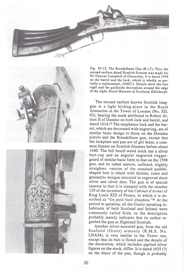 Scottish Firearms The 16th to Mid 19th Century