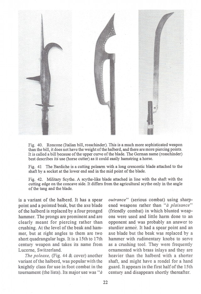The Halberd and other European Polearms 1300-1650